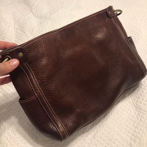 Fossil Pebble Leather Shoulder Bag